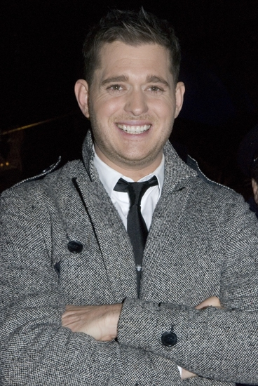 Michael Buble at the Rockerfeller Center Christmas Tree Lighting