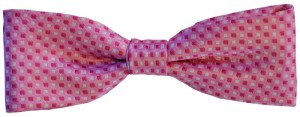 Pink and White Bow Tie