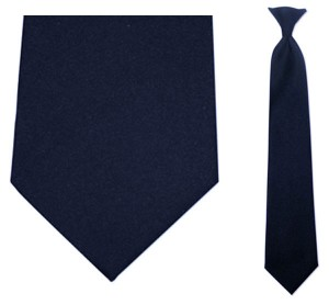 Solid Navy Uniform Tie