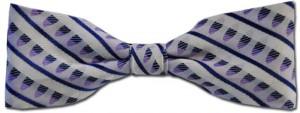 Purple Pattern Bow Tie