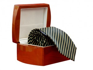 Tie in a box isolated (with clipping path)